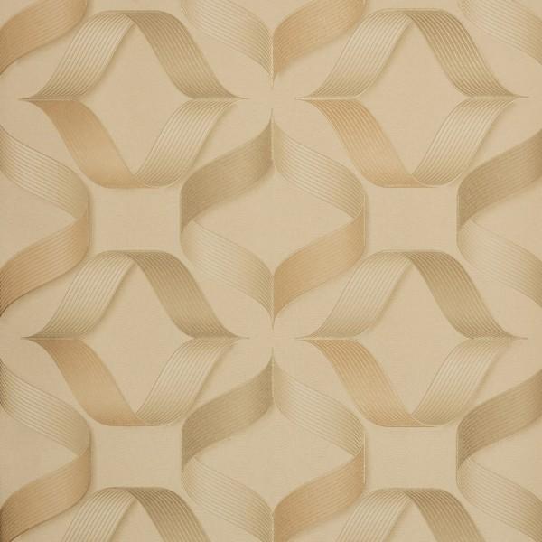 ed9192314 Papel de Parede Vinílico Importado Geométrico 3D Bege