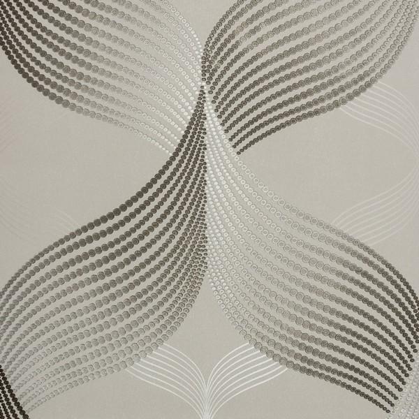 07c76afa4 Papel de Parede Vinílico Importado Geométrico 3D Prata com Preto