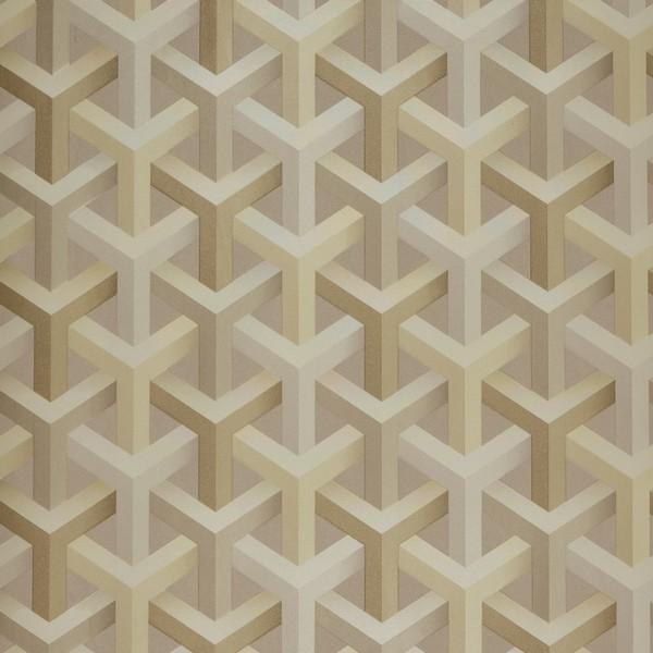 Papel de Parede Vinílico Importado Geométrico 3D Bege e Creme cc2e4958db3